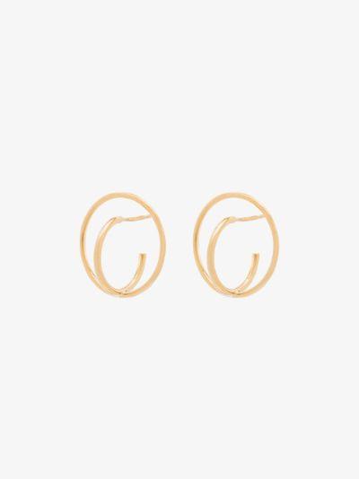 gold vermeil Saturn earrings