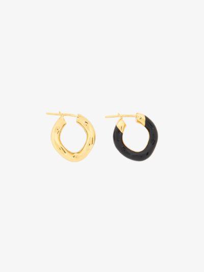 gold vermeil wave hoop earrings