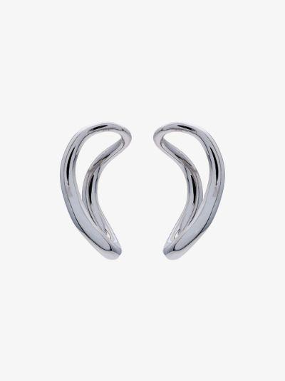 sterling silver small slide earrings