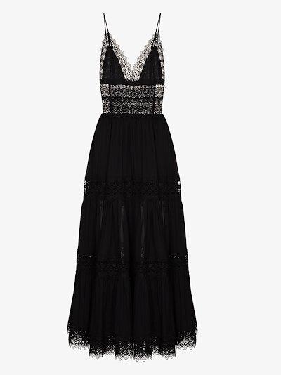 Cindy lace trim maxi dress