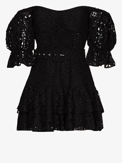 Jean off-the-shoulder mini dress