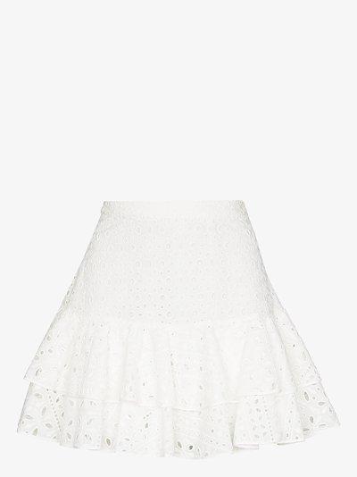 Natalie broderie anglaise mini skirt