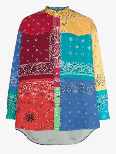 bandana patchwork cotton shirt