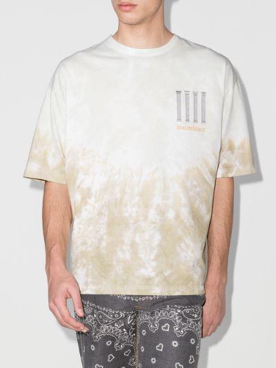 Bird print tie-dye T-shirt