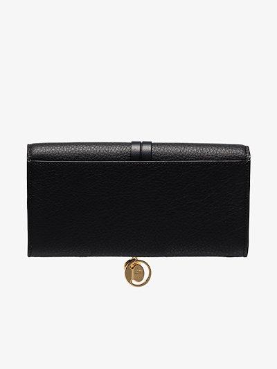 black Alphabet leather wallet
