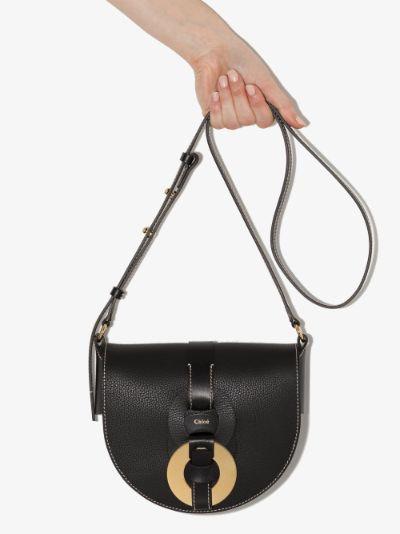 black Darryl leather shoulder bag