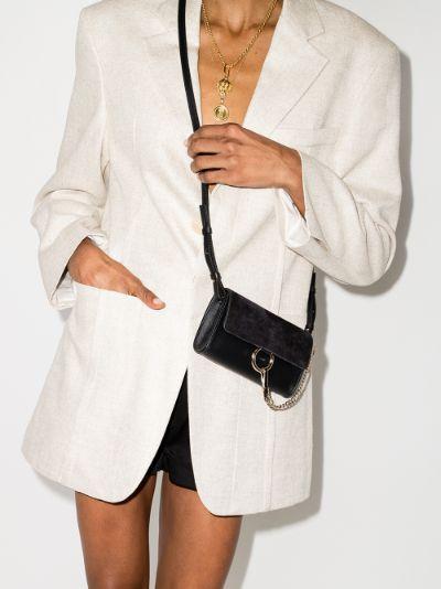 Black Faye Leather cross body bag