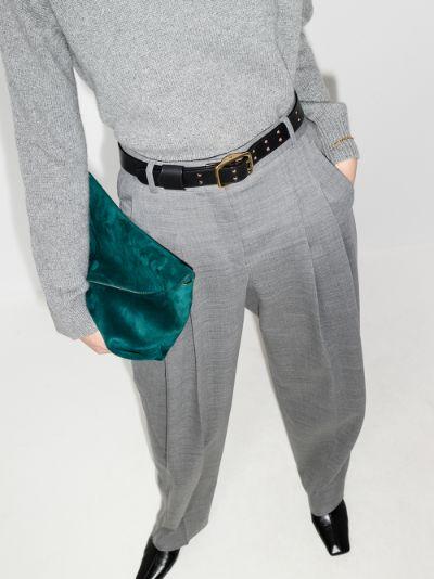 Black Franckie Thin Leather Belt