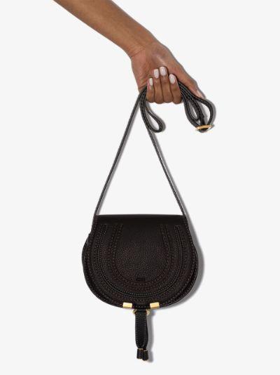 black Marcie leather cross body bag