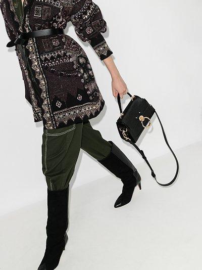 black Tess small leather top handle bag