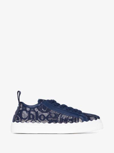 Blue Lauren lace sneakers