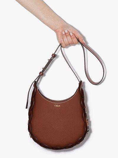 brown C Darryl small leather shoulder bag