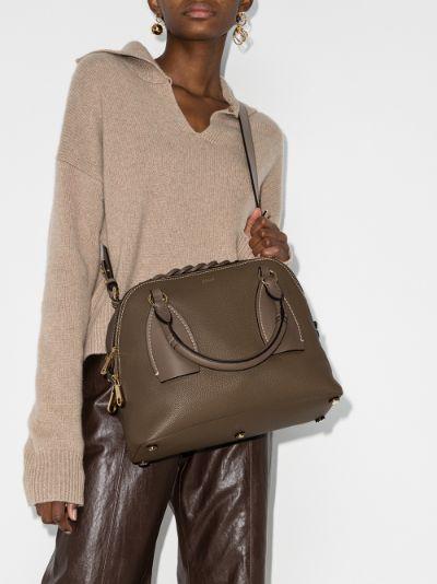 brown Daria large leather shoulder bag