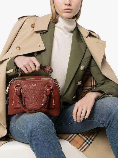 brown Daria small leather shoulder bag