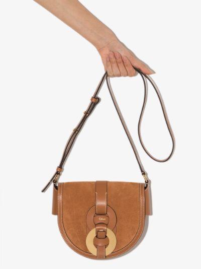 brown Darryl leather cross body bag