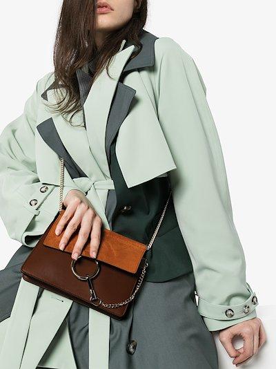 Brown Faye mini leather cross body bag