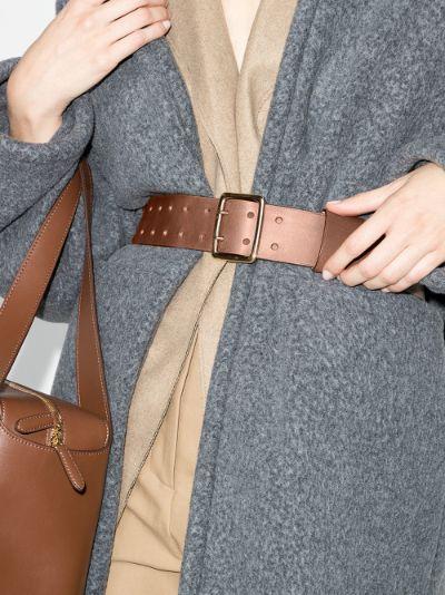 brown Franckie wide leather belt
