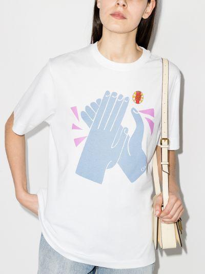 Clap Print cotton T-shirt