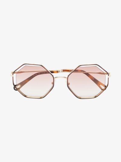 brown Dree octagonal sunglasses