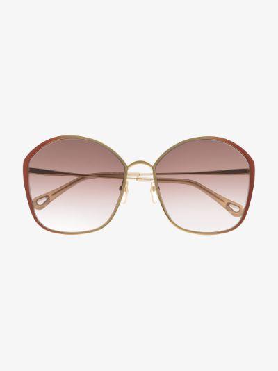 Brown Irene oversized square sunglasses