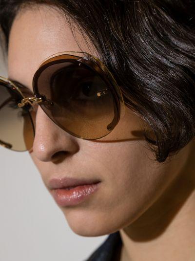 brown oversized sunglasses