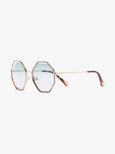 brown Poppy octagonal sunglasses