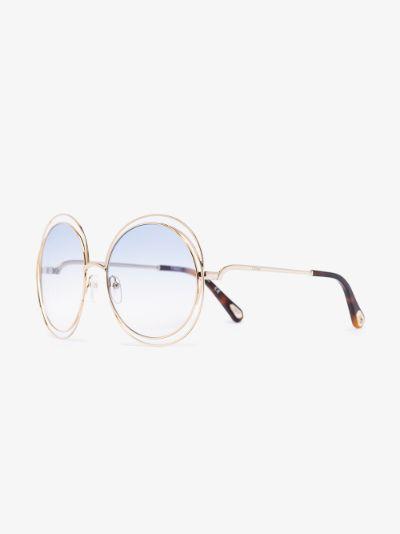 gold tone Carlina round sunglasses
