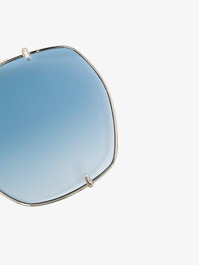 Gold tone Demi convertible gradient sunglasses