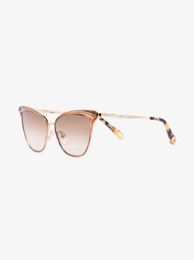 gold tone Felicy cat eye sunglasses