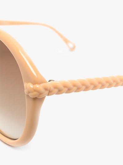 Neutral Billie round sunglasses