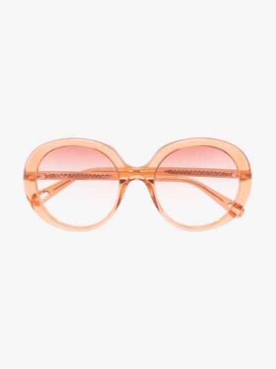 Orange Esther round sunglasses