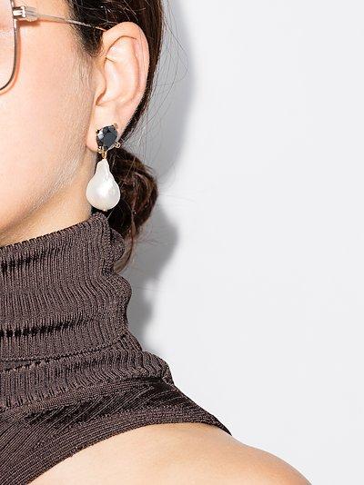 gold tone baroque pearl earrings