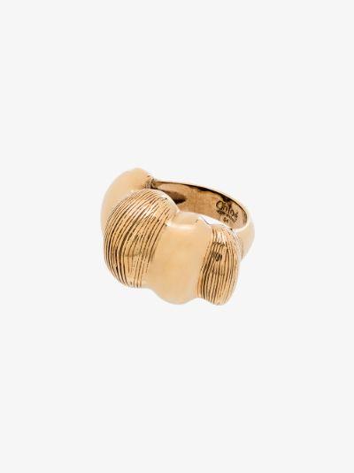 gold tone Bubble ring