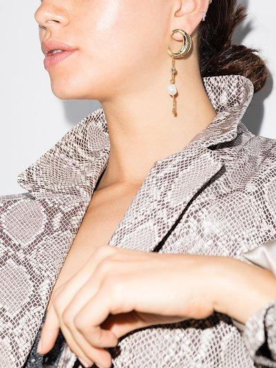 gold tone Darcey asymmetrical earrings