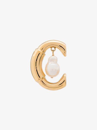 gold tone Darcey pearl earring