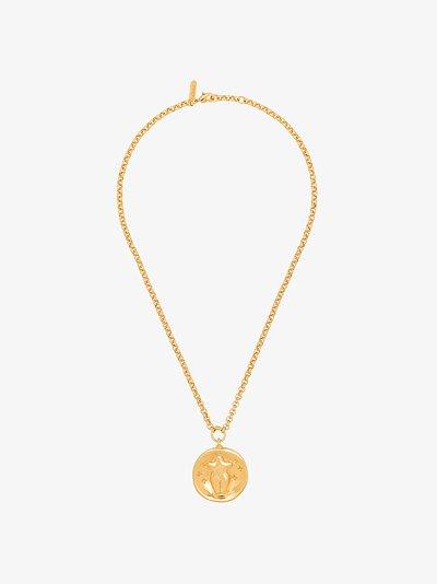 Gold tone Emoji pendant necklace