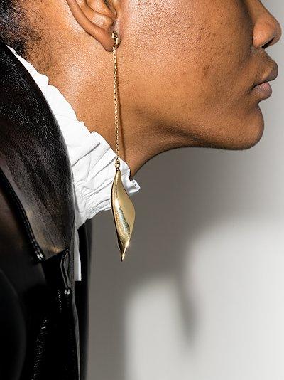 Gold tone Fiji drop earrings