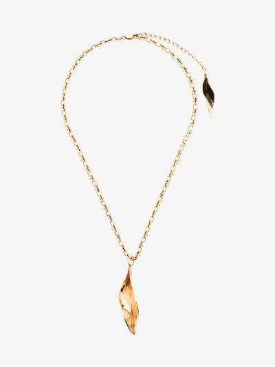 Gold tone Fiji pendant necklace