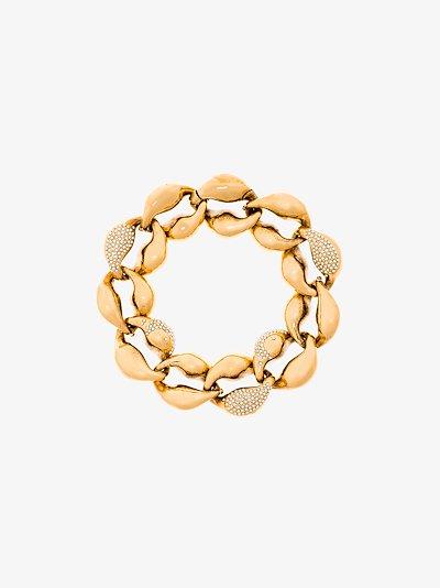 gold tone Trudie crystal embellished bracelet