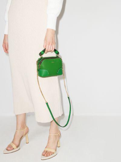 green daria leather mini bag