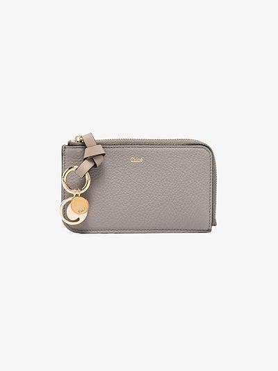 grey Alphabet leather wallet
