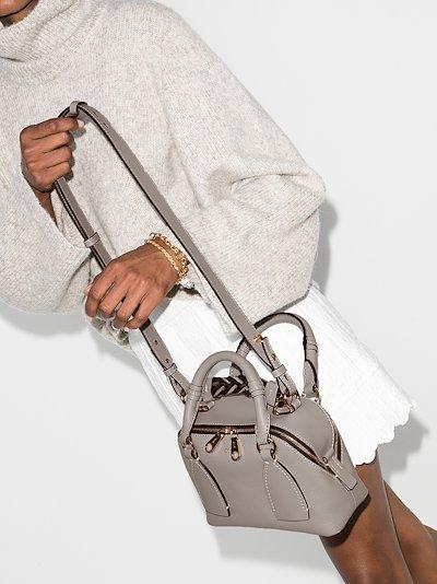 grey Daria small leather shoulder bag