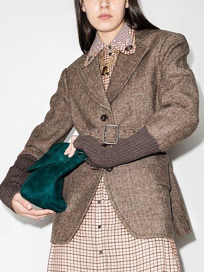 herringbone belted jacket