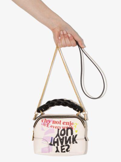 multicoloured Daria mini printed top handle bag