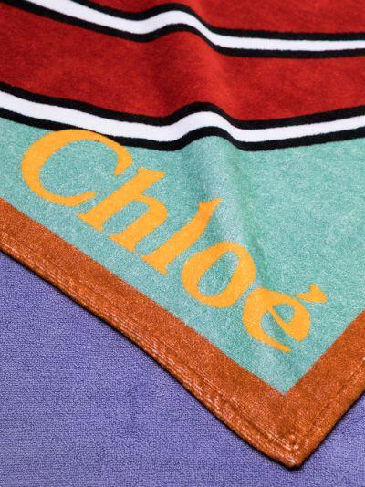 multicoloured Love graphic towel