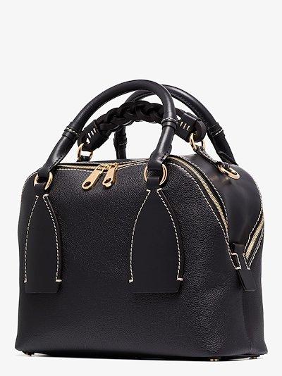 navy Daria medium leather shoulder bag