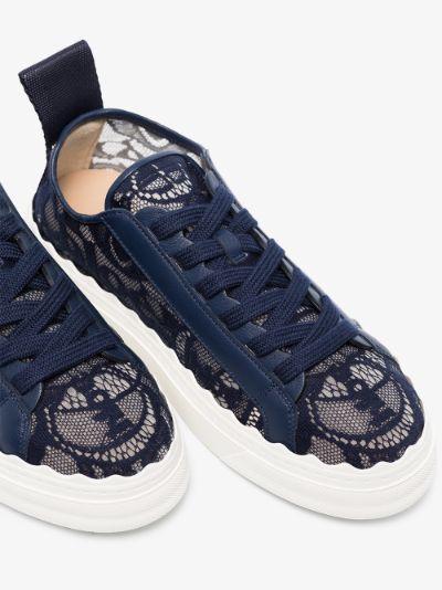 Navy Lauren Lace Sneakers