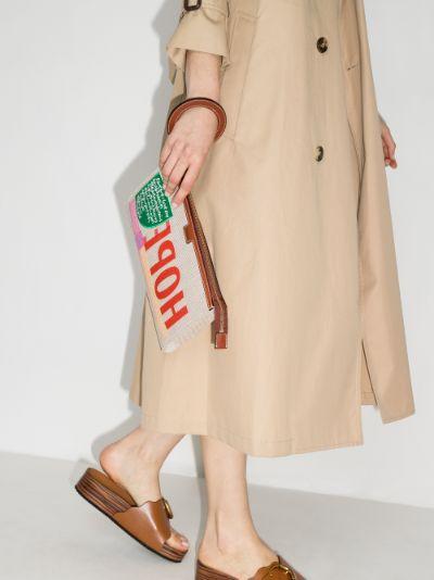 neutral Hope canvas clutch bag
