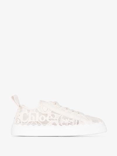 neutral Lauren lace sneakers