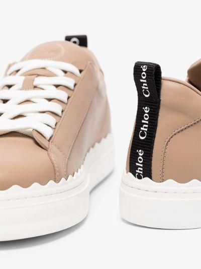 neutral Lauren leather sneakers